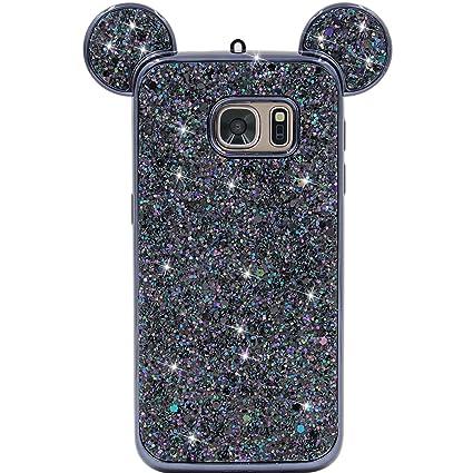 e833618b5 Galaxy S7 Case, MC Fashion Super Cute Sparkle Bling Bling Glitter 3D Mickey  Mouse Ears