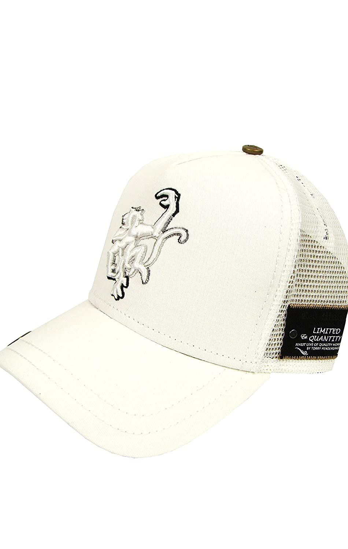 45ea67163fc Red Monkey Grad Logo Trucker Hat White Black at Amazon Men s Clothing store