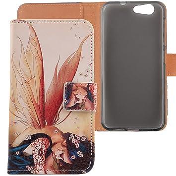 LANKASHI Wing Girl Design PU Flip Billetera Funda De Carcasa Cuero Case Protective Cover Piel para ZTE Blade A512 5.2