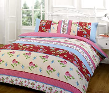 Housse De Couette Vintage En Coton Motif Floral Parure De Lit Housse