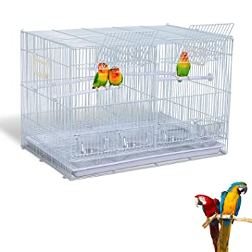Pawhut Metal – jaula para pájaros Canarias Finch periquito loro w/4 perchas 4 bandejas