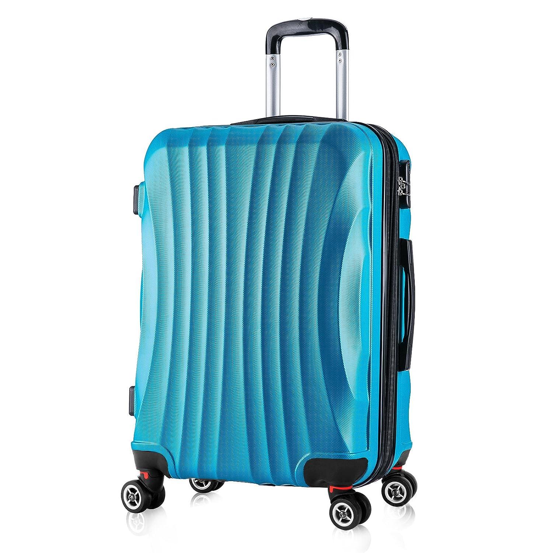 WOLTU RK4213bl-M Valise Cabine Bagage de Voyage léger 4 roulettes Taille M(56 cm et 42 litres), Bleu