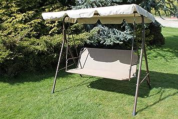 olive grove textoline  u0026 steel 2 3 seater garden hammock swing seat in tweed colour olive grove textoline  u0026 steel 2 3 seater garden hammock swing seat      rh   amazon co uk