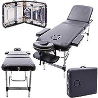 Massage Imperial® Richmond -Table de massage Portable pro luxe - Aluminum - 3 Zones - Couleur : Noir