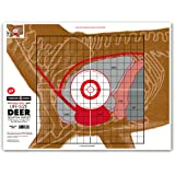 "Life Size Deer Vital Organ Sight In - Paper Hunting & Shooting Targets 19""x25"""