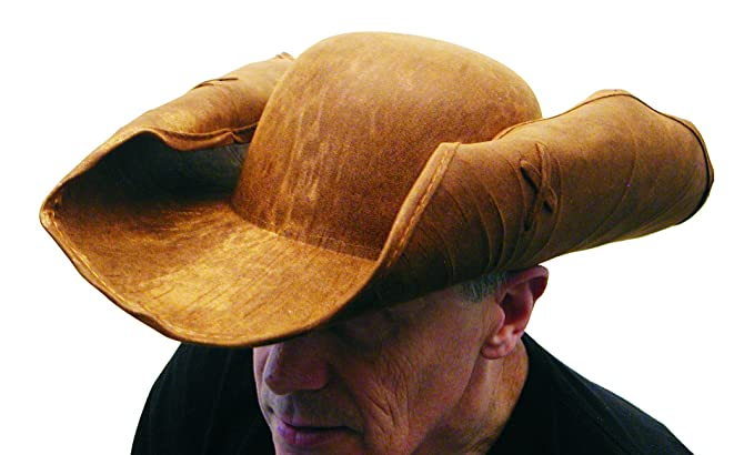 Amazon.com  HMS Men s Leather Like Pirate Hat e45ec55820eb