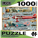 "LANG - 1000 Piece Puzzle -""Planes"", Artwork by Artly - Linen Finish - 29"" x 20"" Completed"