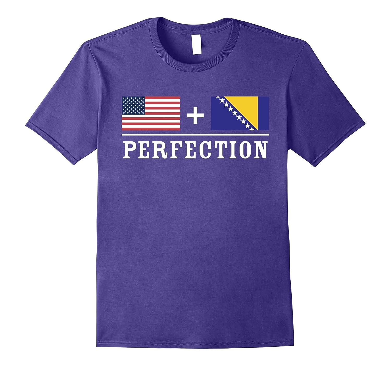 American  Bosnian  Perfection Flag T-Shirt-Vaci