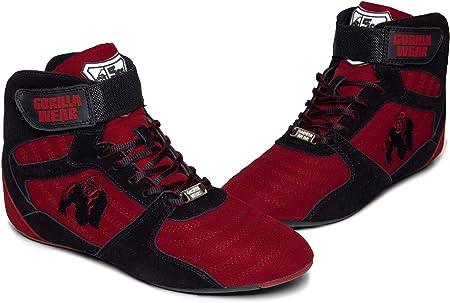GORILLA WEAR Calzado Fitness Hombre - Perry High Tops - Bodybuilding Gym Shoes Deportivo Rot 41 EU
