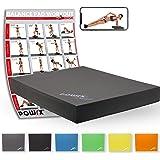 POWRX Balance Pad/Tapis d'entraînement/Coussin d'équilibre - Idéal pour le yoga, le pilates, la proprioception et la rééducation/Coloris différents