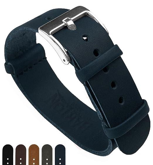 Barton Leather NATO - Correas de reloj de piel de 18 mm 5e54894b5c54