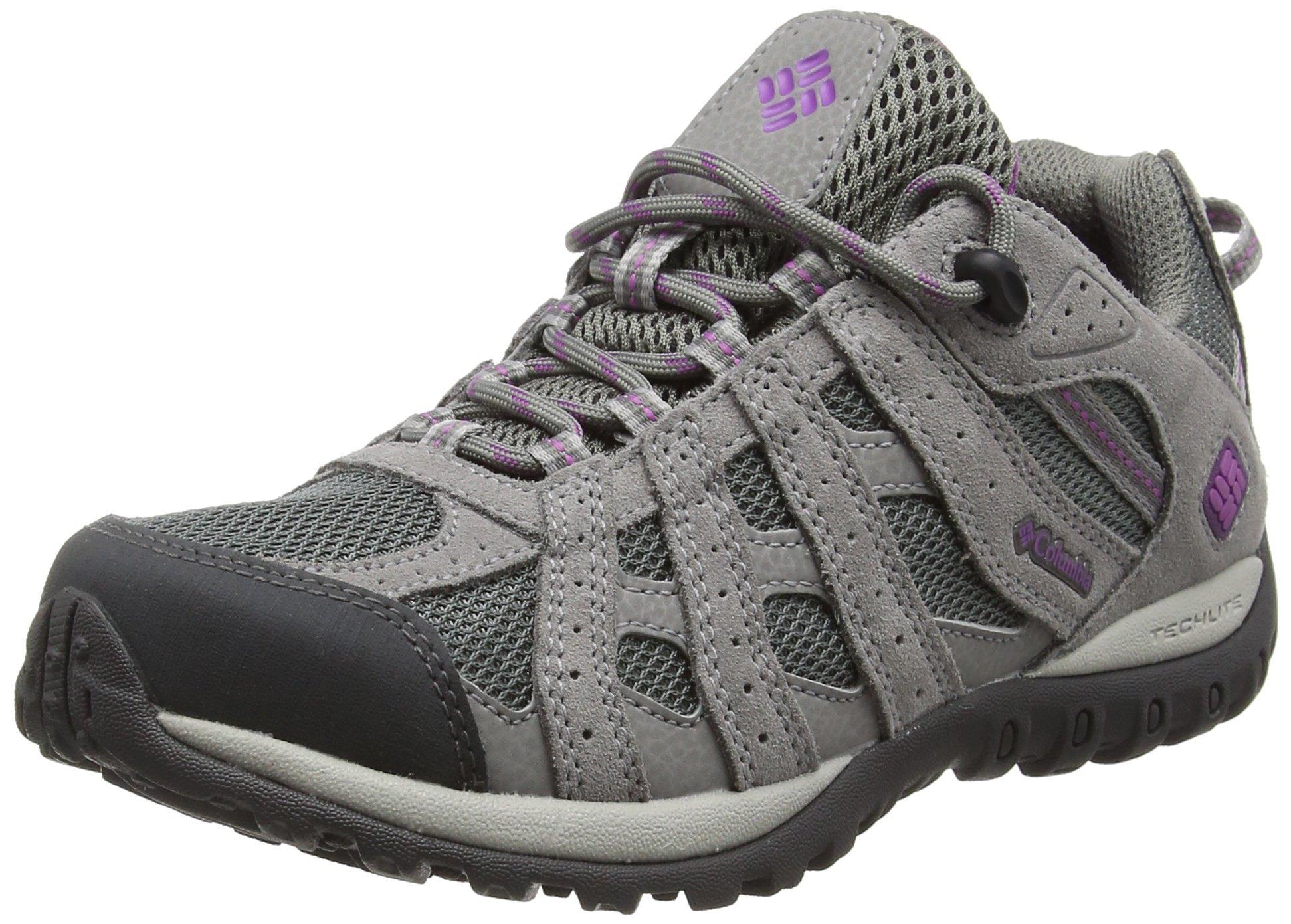Columbia Women's Redmond Waterproof Hiking Shoe Charcoal, Razzle 5.5 B US
