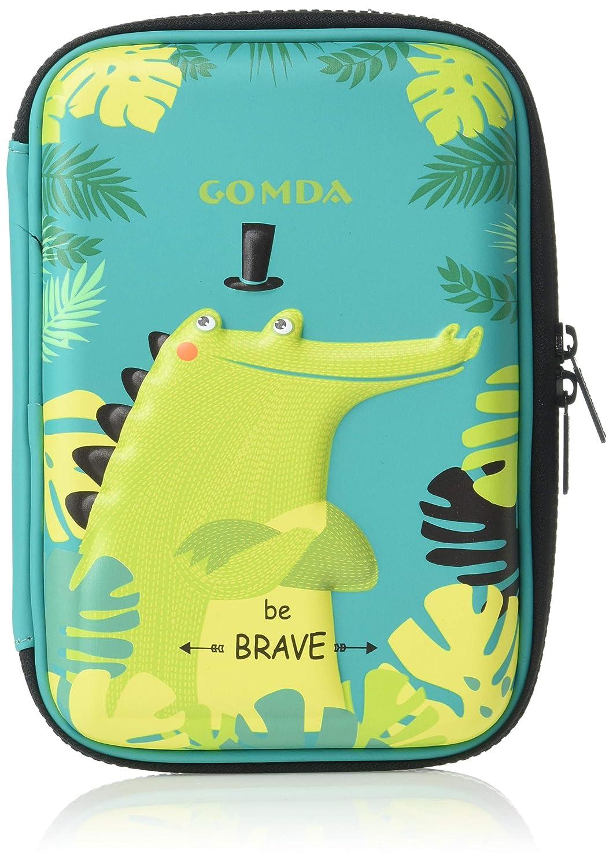 GOMDA 鉛筆ケース デラックス 大容量ハードトップ鉛筆ボックス コンパートメントとジッパー付き 色鉛筆ホルダー 学校オーガナイザー 子供用 (グリーン)   B07QL4VGGF