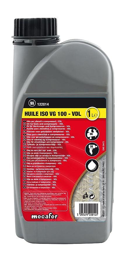 Mecafer 122014 - Aceite para compresor y herramientas neumáticas (1 L)