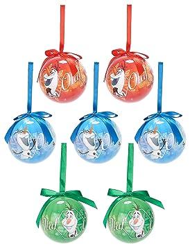 Navidad Bolas Disney OlafAmazon De Y esJuguetes Juegos Estuche 7 oeWCxrdB
