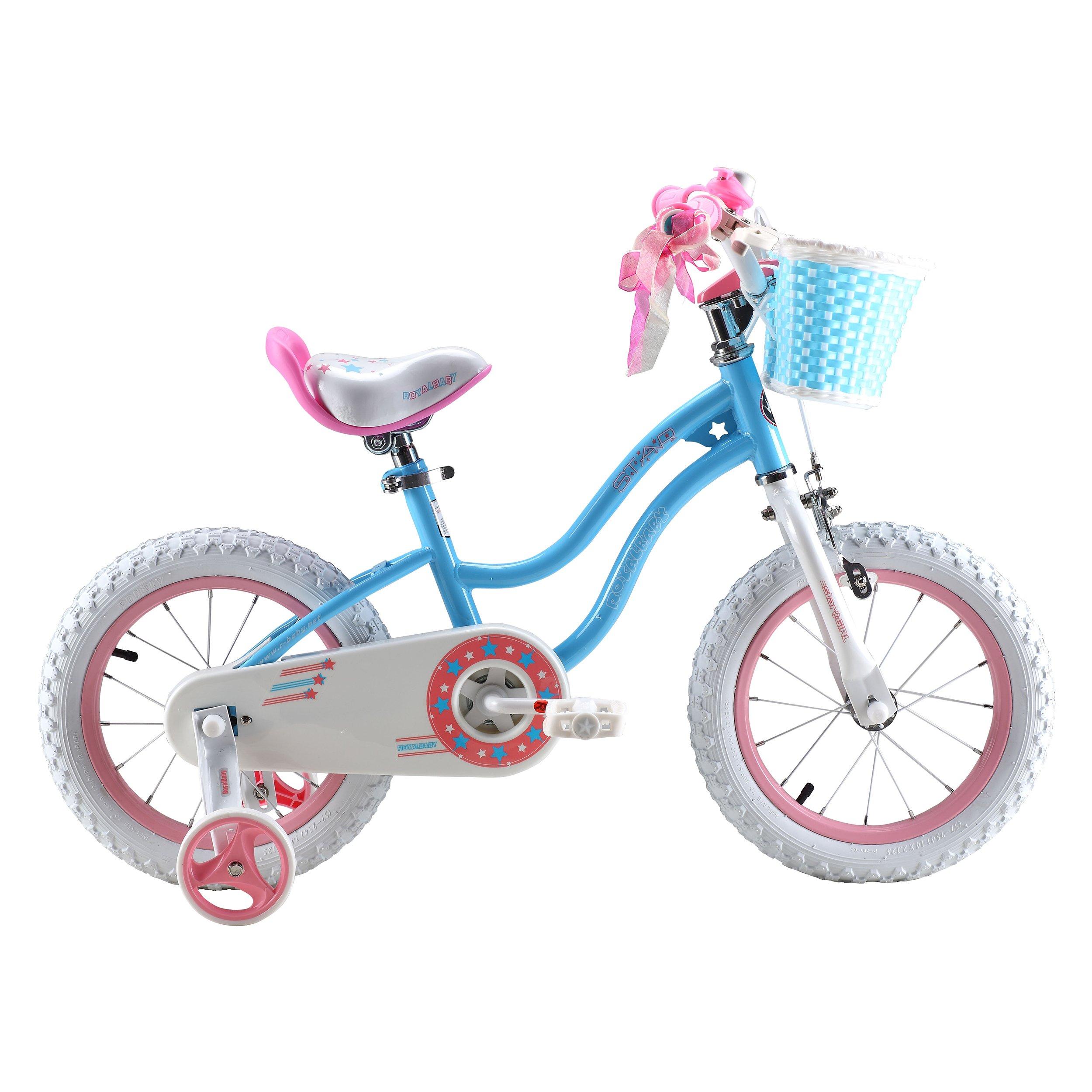 Royalbaby Stargirl Girl's Bike, 14 inch wheels, Blue