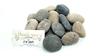 LF Inc. 50 Lb. Premium Small Mixed Mexican Beach Pebbles 1-2 inches, Decor, Garden, Landscape