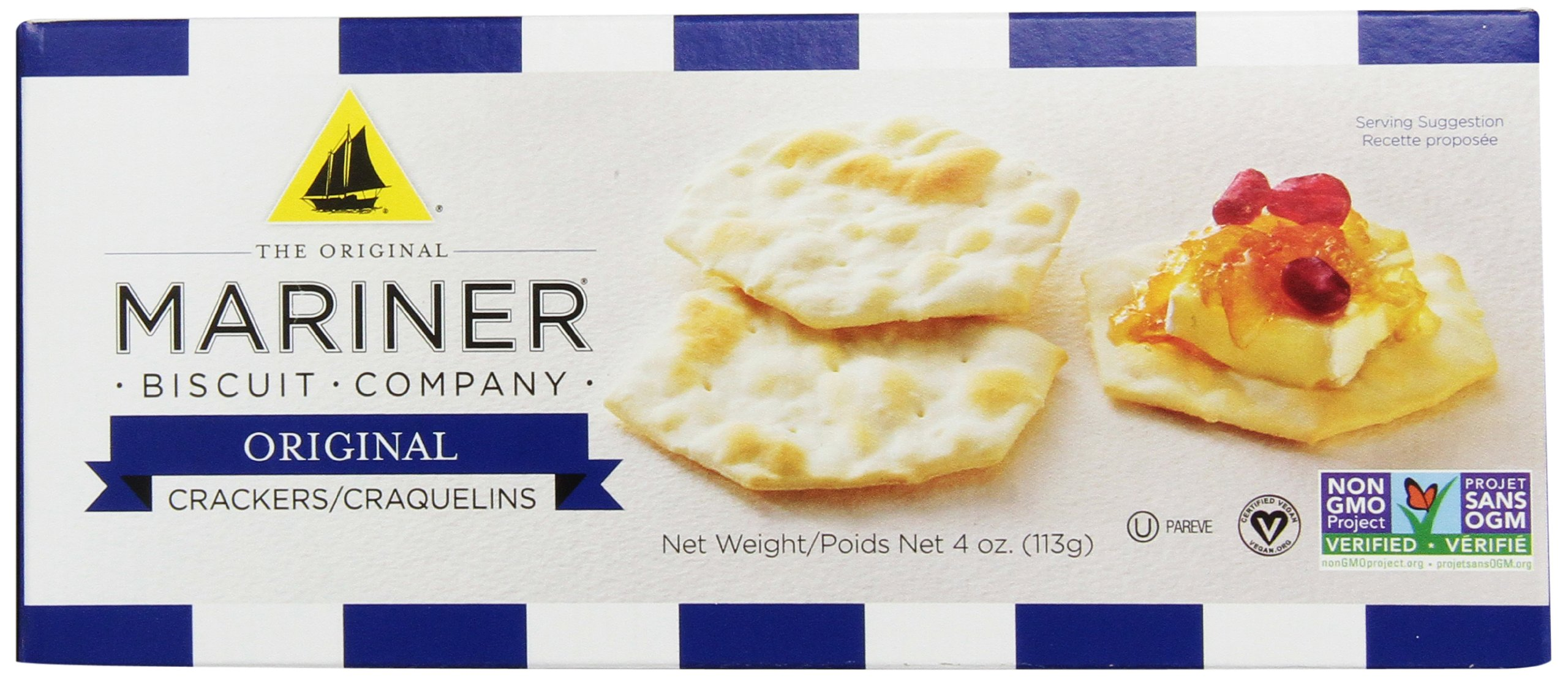 The Original Mariner Biscuit Company Original Water Cracker, 4-Ounce (Pack of 12)