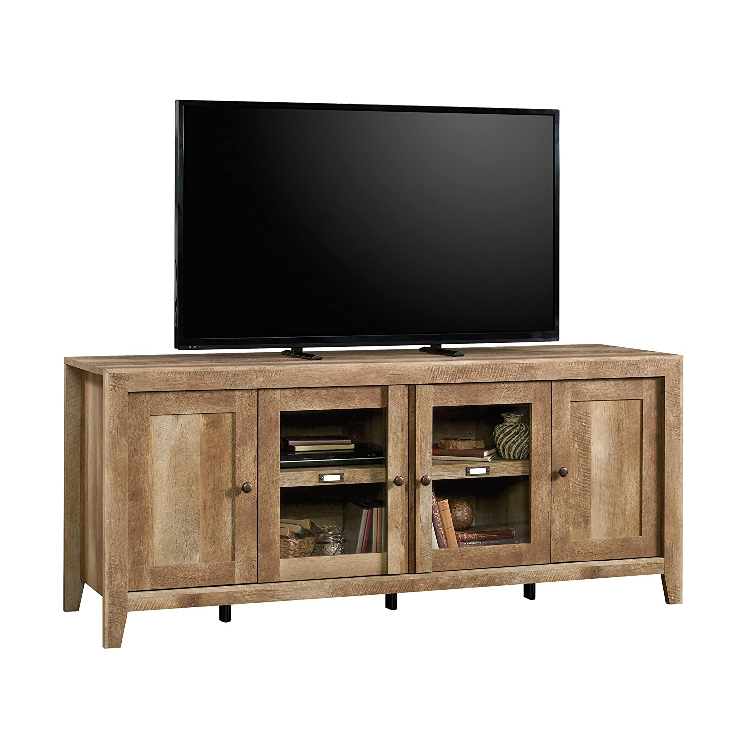 Amazon.com: sauder Dakota Pass Soporte de TV en roble ...