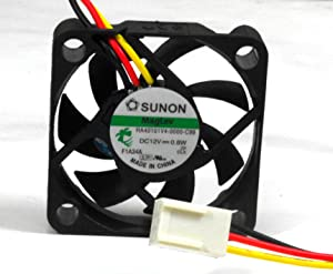 Sunon 40x40x10mm Super Low Speed 12V DC 3pin Fan Model, HA40101V4-0000-C99