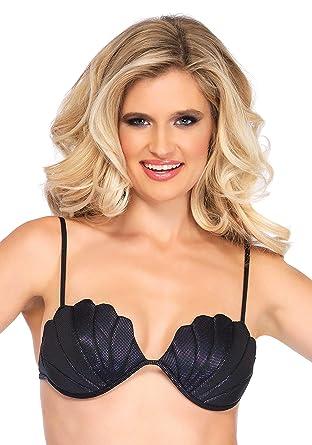 d19db5fb2ff00 Amazon.com  Leg Avenue Women s Mermaid Seashell Bikini Top  Clothing