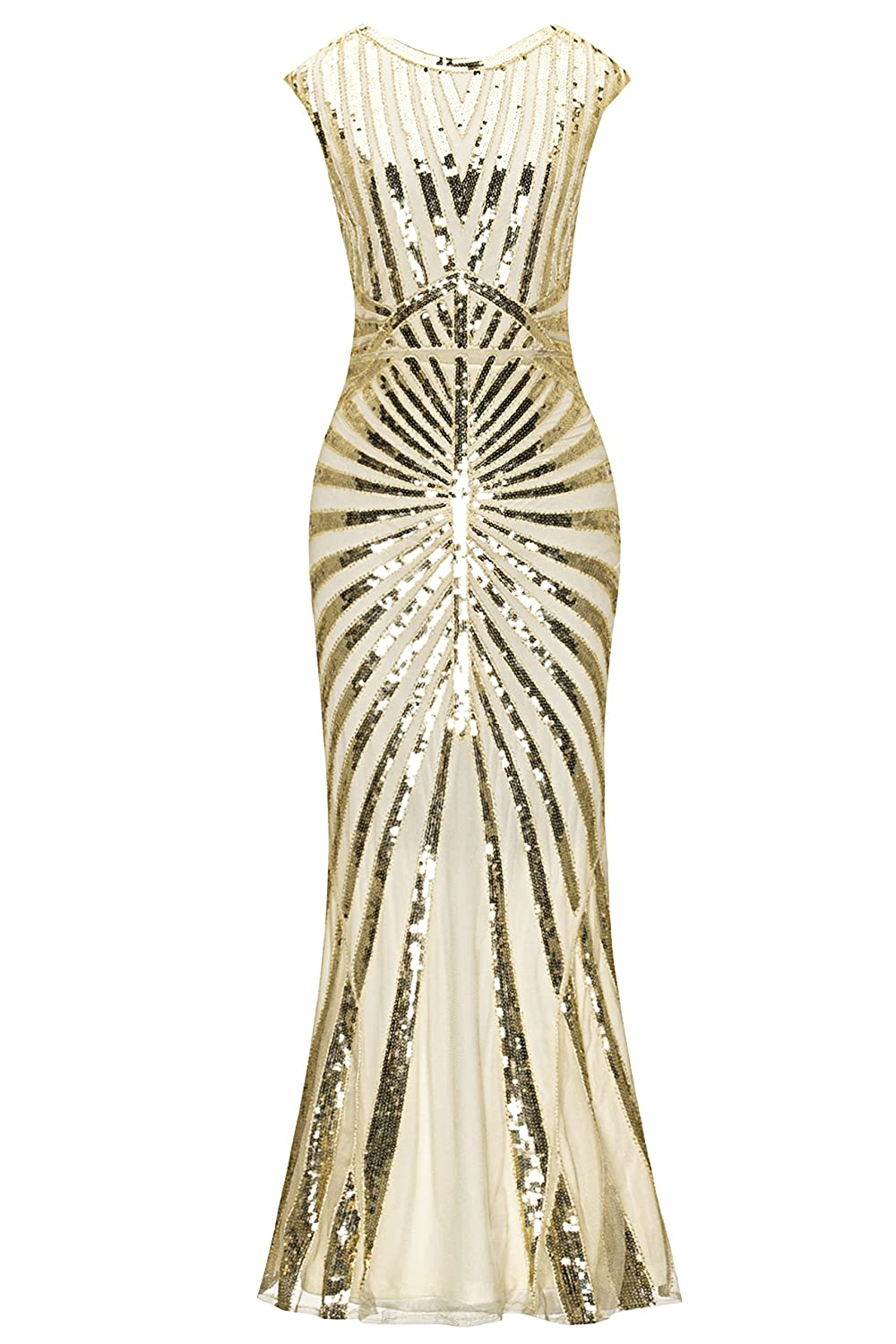 1920s Costumes: Flapper, Great Gatsby, Gangster Girl Metme Formal Evening Dress 1920s Sequin Mermaid Formal Long Flapper Gown Party $54.99 AT vintagedancer.com