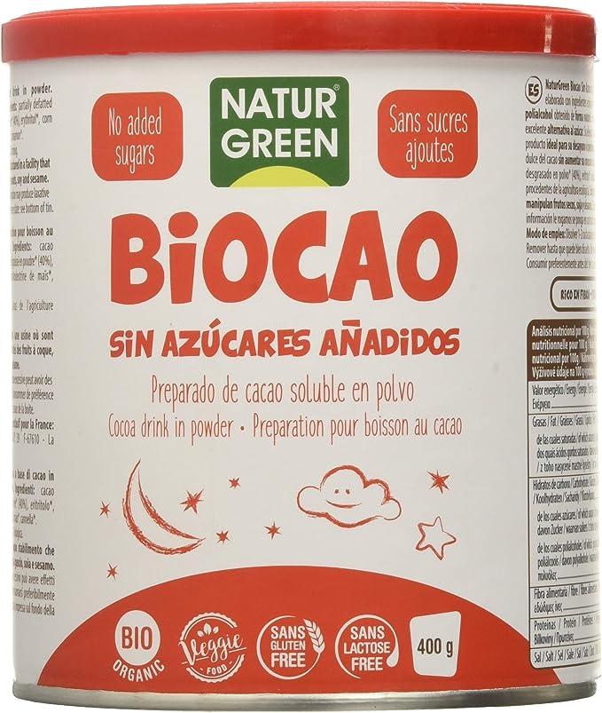 Naturgreen Biocao contenido reducido de azúcares Bio 400 g ...