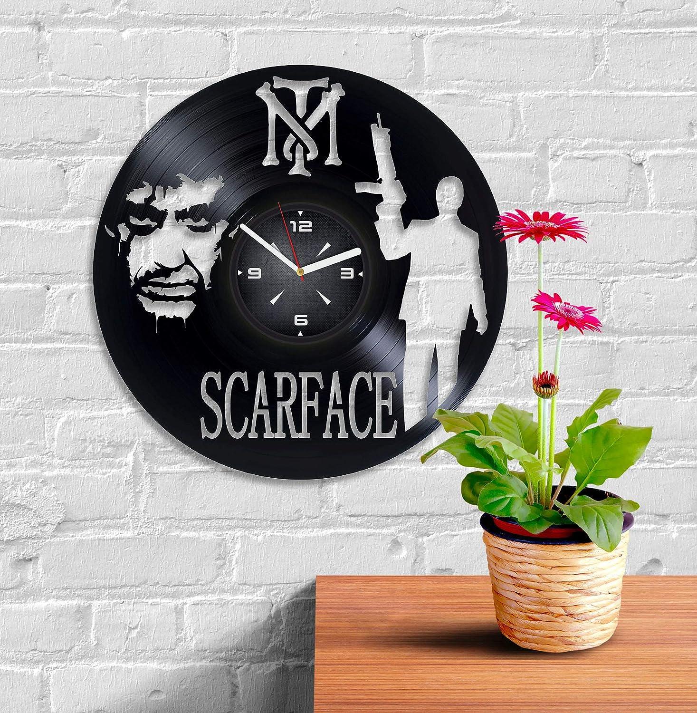 Amazoncom Scarface Vinyl Record Wall Clock Decor For Bedroom