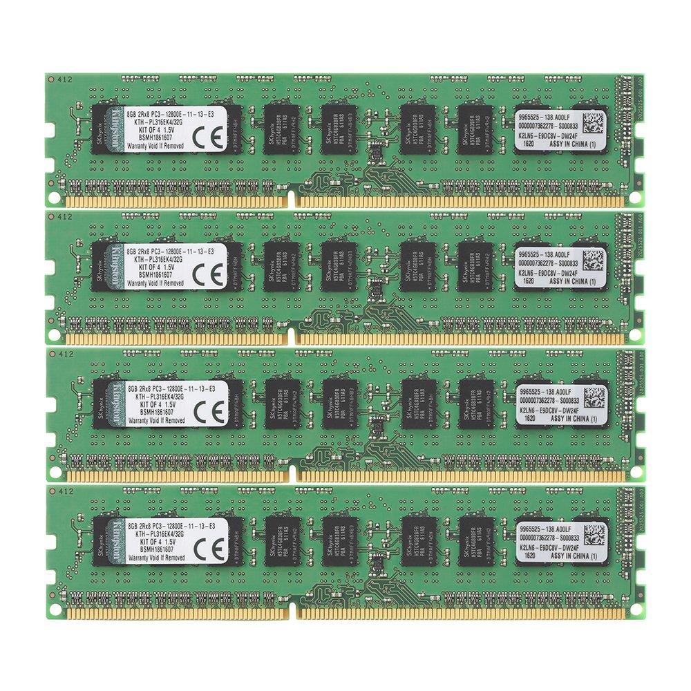 Memoria RAM 32GB Kingston Technology Kit of 4 (4 x 8GB) DDR3 1600MHz PC3-12800 ECC DIMM para Select HP/Compaq s KTH-PL31