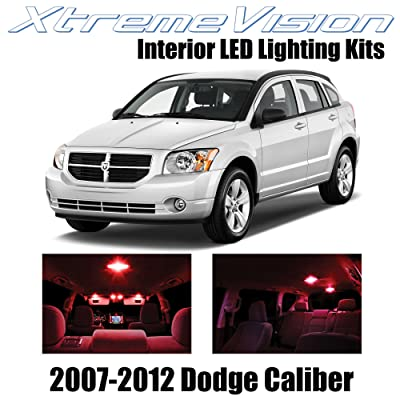 Xtremevision Interior LED for Dodge Caliber 2007-2012 (6 Pieces) Red Interior LED Kit + Installation Tool: Automotive