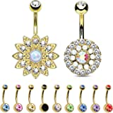 BodyJ4You 12 Pieces Belly Button Ring Piercing Bar Jewelry Set Gift Box