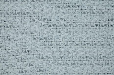 DREAM CASTLE PREMIUM 100% COTTON TEXTURE BLANKET ; SOFT & COZY ; PERFECT FOR LAYERING BLUE