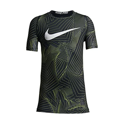 774987456d NIKE Boy s Pro Cool Pro Cool HBR Short Sleeve Fitted Training Top (Small