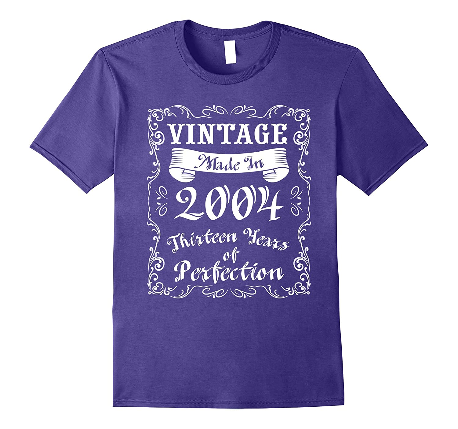 13th Birthday Gift T-Shirt 13 Years of Perfection 2004 Birth-PL