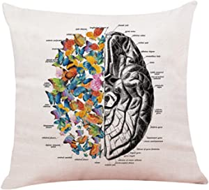yuzi-n Anatomy Throw Pillows Case, Medical School Graduation Gift, Doctor Gift Doctor, Doctor Office Decor, Social Worker Graduation Gift, Occupational Therapist Gift (Brain)