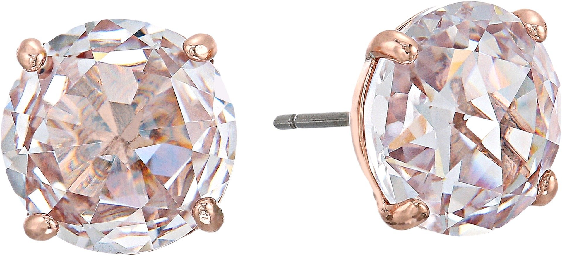 Kate Spade New York Women's Bright Ideas Stud Earrings, Clear/Rose Gold, One Size