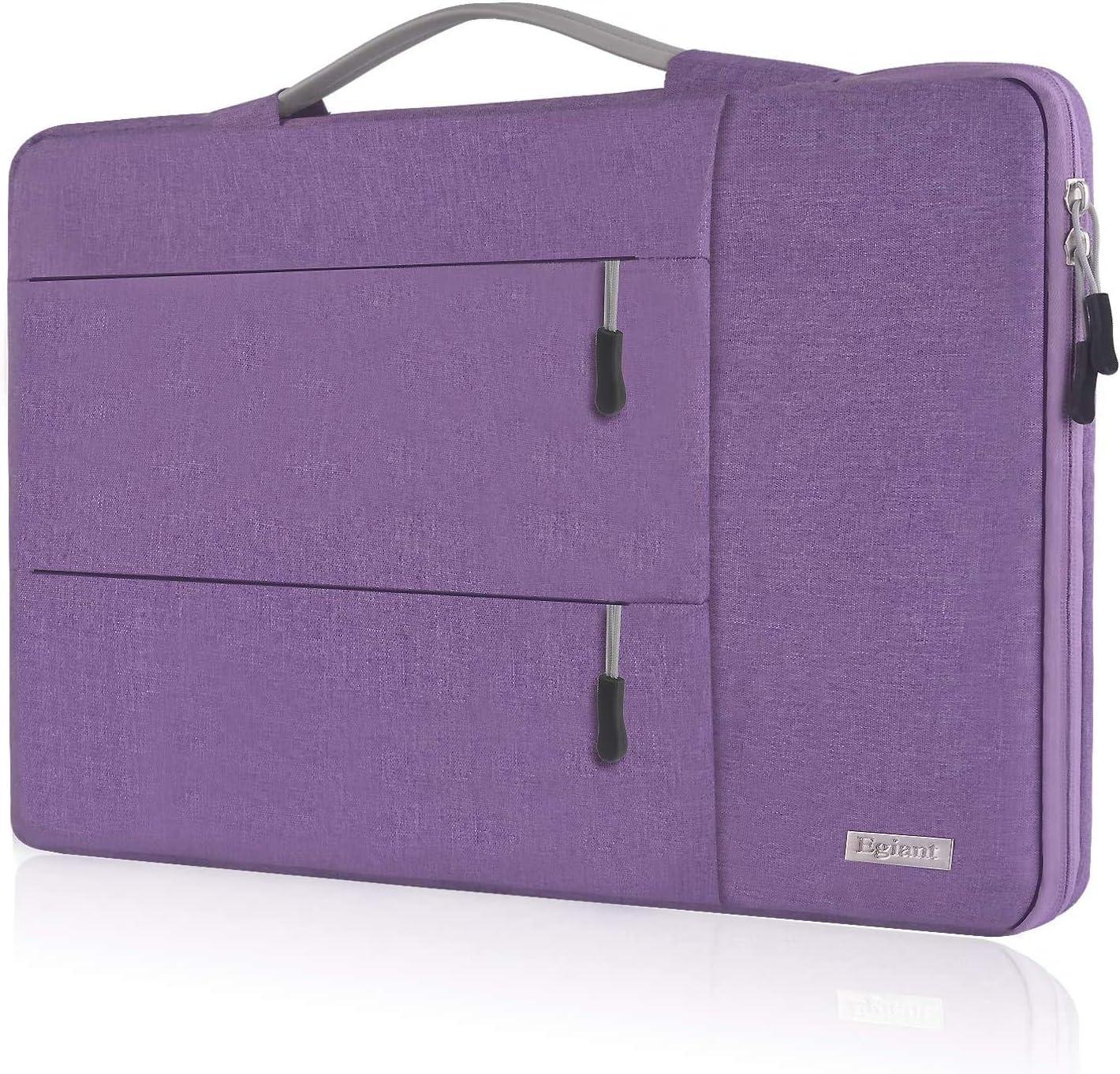 Egiant 14 inch Laptop Sleeve Case,360° Protective Handbag for HP Chromebook 14,Acer Spin 3/Aspire 1,Dell Inspiron 14/Latitude,Lenovo Flex 14,ASUS VivoBook Zenbook,Water-Resistant Notebook Bag,Purple