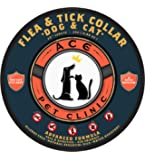 """Ace Pet Clinic Flea & Tick Collar for Dogs & Cats, Kills and Repels Flea and Tick on Pets, One Size fits most (25"""" adjustable length), 8 Months Protection, Water Resistant, Best Flea and Tick Treatment Collar for Pets"""