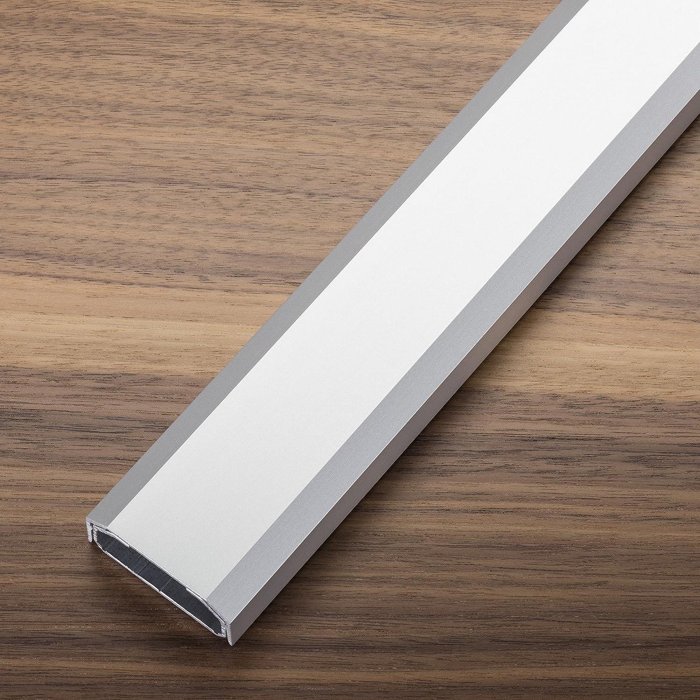 Design Kabelkanal 1100 x 50 x 20 mm weiß gepulvert mit Platz für viele Kabel Kabelführung Kabeldurchführung Design trifft auf Funktion von SCHÜCO ALU COMPETENCE SOTECH