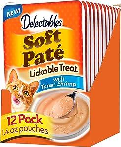 Hartz Delectables Soft Pate Lickable Wet Cat Treats, 12 Pack Multiple Flavors