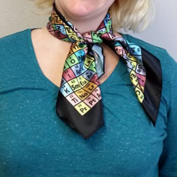 """Periodic Table of Elements Chemistry Scarf, 31"""""""
