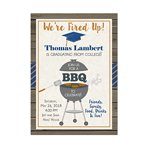 amazon com graduation bbq cookout invitation match with school