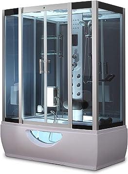 1001 NOW GT9001 Hydro - Mampara de ducha con 6 chorros de agua ...