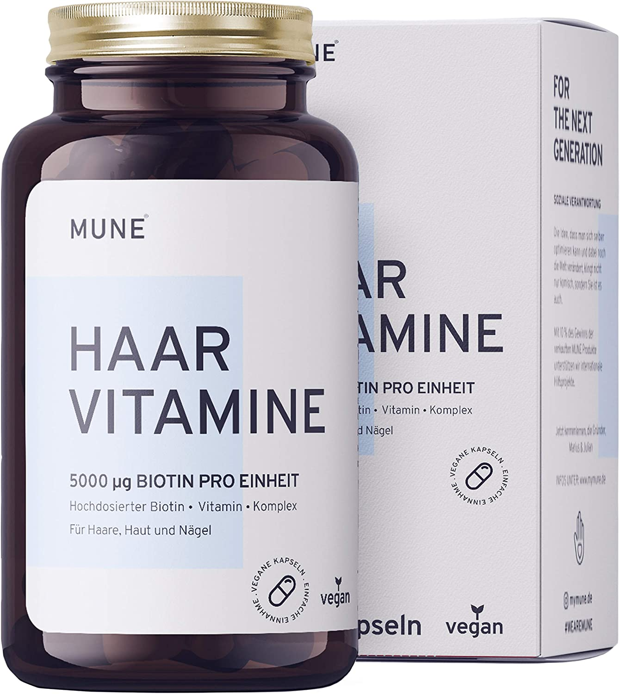 Vegane Biotin Haar-Vitamine - Einführungspreis - 120 Kapseln 5000µg 2 Monatsvorrat B-Vitamine Selen Zink Folsäure Hirseextrakt gesundes Haarwachstum Bartwuchs und Haarausfall Frau Mann Laborgeprüft: Amazon.de: Drogerie & Körperpflege -