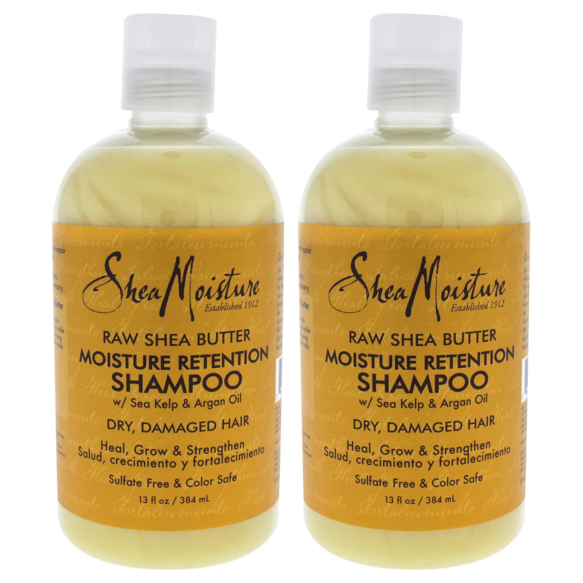Raw Shea Butter Moisture Retention Shampoo by Shea Moisture for Unisex - 13 oz Shampoo - Pack of 2