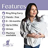 Baby Wrap Carrier and Ring Sling for