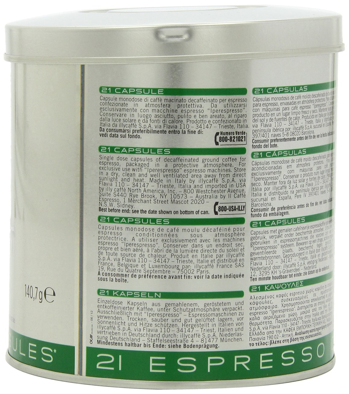Illy Caffe Lungo Iperespresso Medium Roast, 21 Capsules, , 6 Count: Amazon.com: Grocery & Gourmet Food