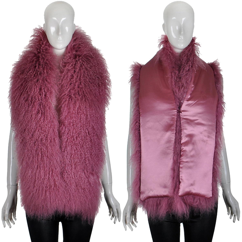 Ysting Womens Scarf Wrap Large Beach wool Real Fur Collar Shawl Shrug Fluffy Collors
