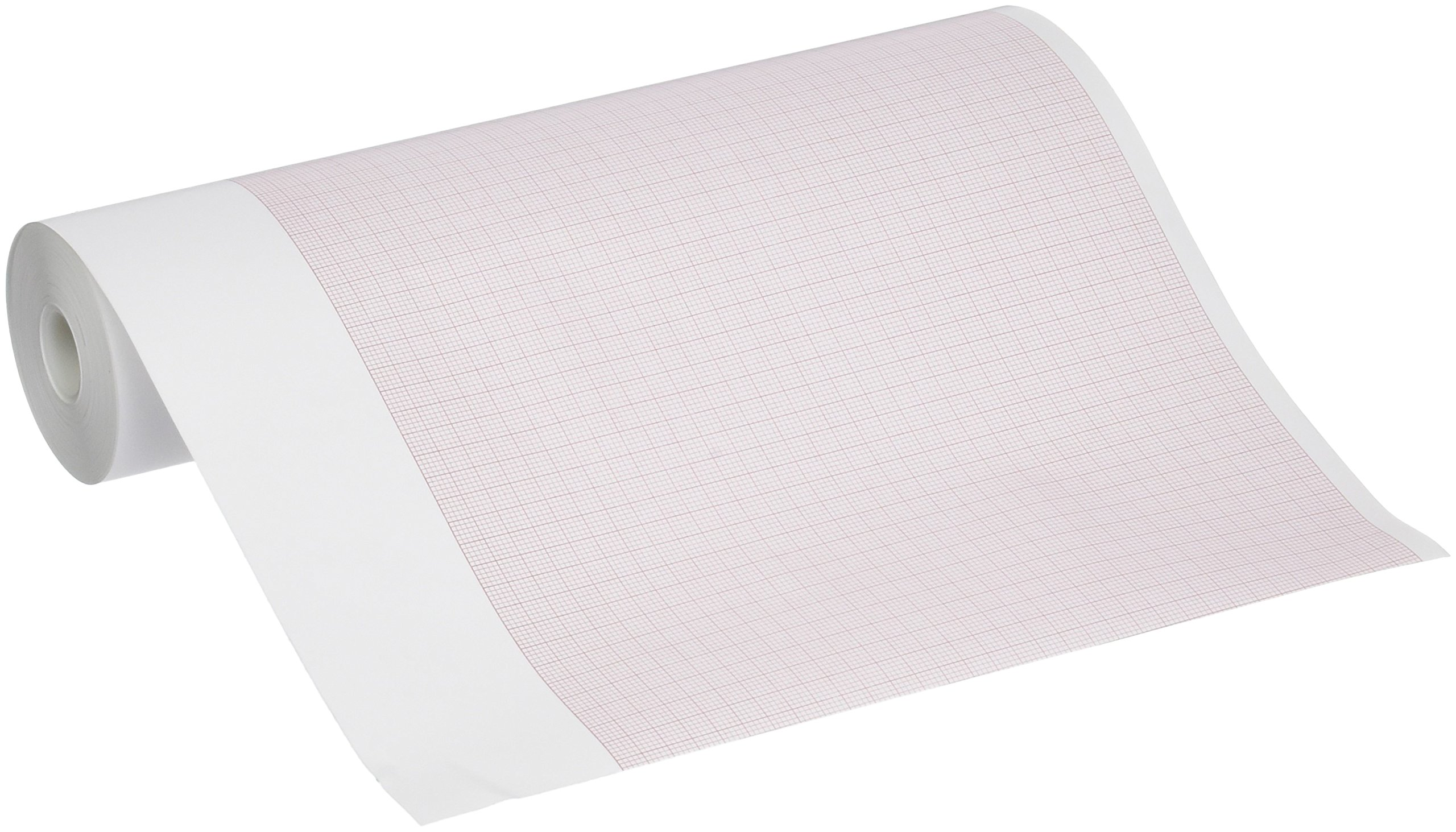 Mortara 9100-029-50 Thermal Paper Roll with Header Full Size for use with The ELI/Bur 230, 8/27'' x 840'' Size (Pack of 12)