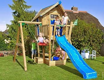 Jungle Gym Crazy Playhouse 1-Swing Azul Casitas Infantiles ...